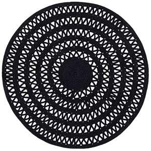 Bowline Black Indoor Outdoor Rug
