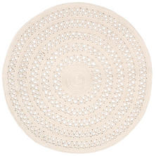 Bowline Ivory Indoor/Outdoor Round Rug