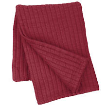 Boyfriend Garnet Matelassé Throw