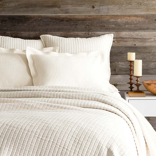 Wonderful Boyfriend Ivory Matelassé Coverlet