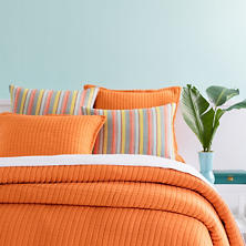 Boyfriend Orange Matelassé Coverlet