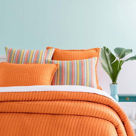 Wonderful Boyfriend Orange Matelassé Coverlet