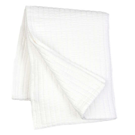 Boyfriend White Matelassé Throw