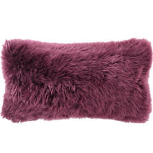 Longwool Combed Sheepskin Boysenberry Decorative Pillow