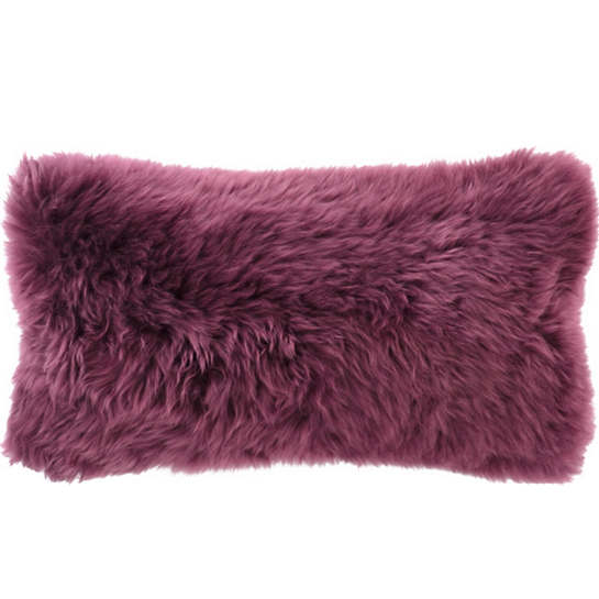 Boysenberry Longwool Combed Pillow