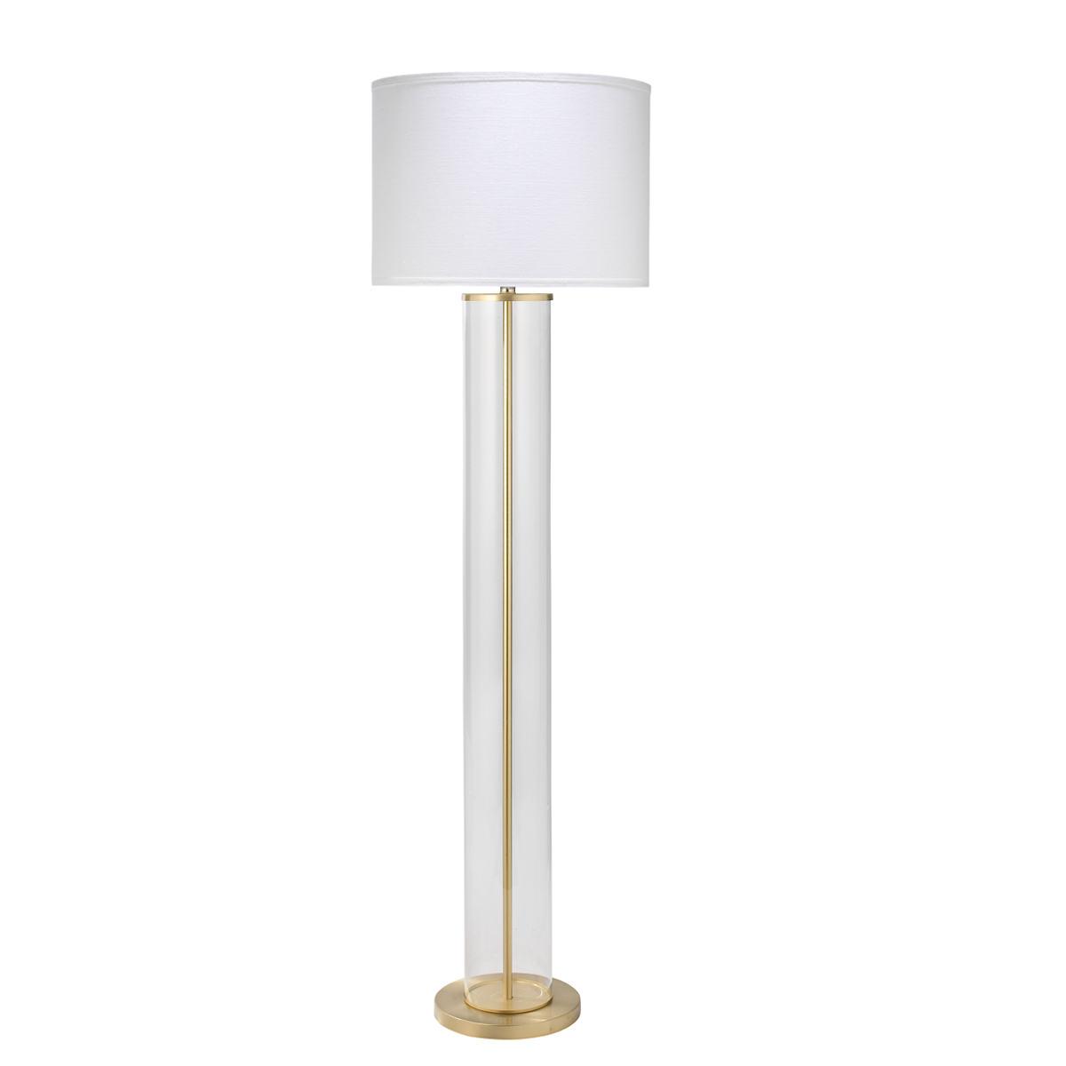 Brass Rockefeller Floor Lamp