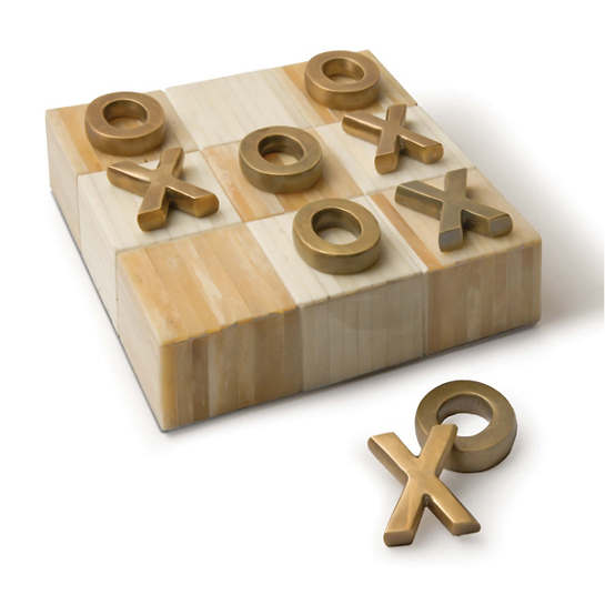 Brass Tic Tac Toe Board