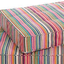 Bright Stripe Dog Bed Cover