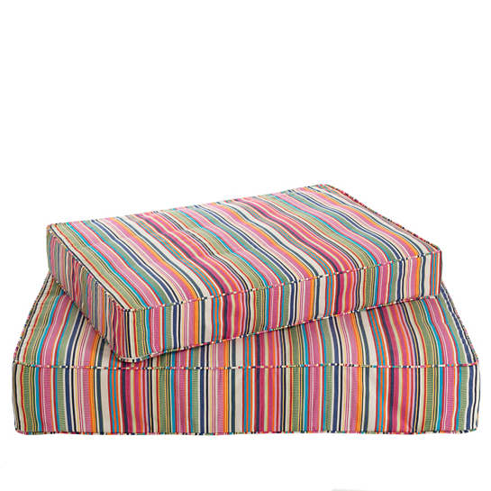 Bright Stripe Dog Bed