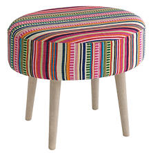 Bright Stripe Mini Rug Ottoman