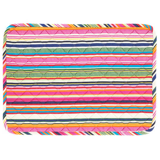 Bright Stripe Quilted Placemat