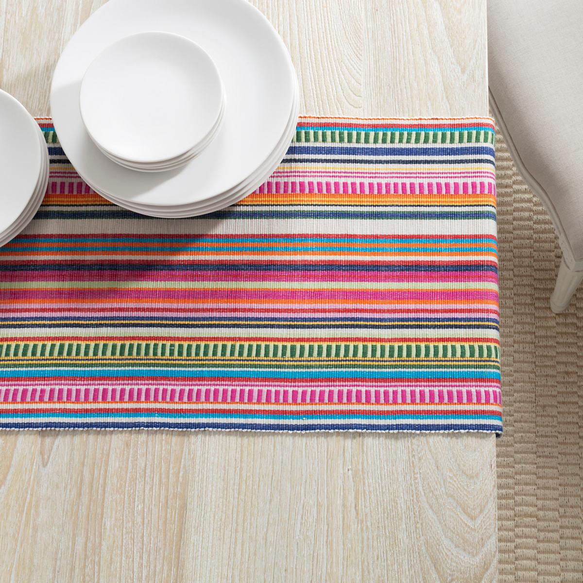 Bright Stripe Table Runner