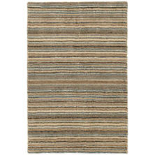 Brindle Stripe Mountain Loom Knotted Rug