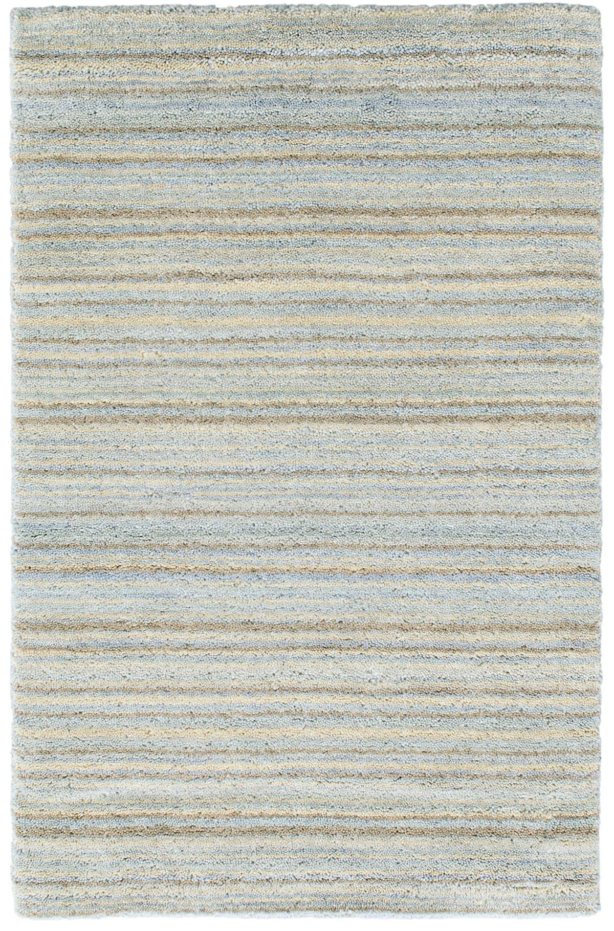 Brindle Stripe Sea Hand Knotted Rug