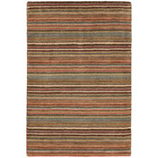 Brindle Stripe Loom Knotted Rug