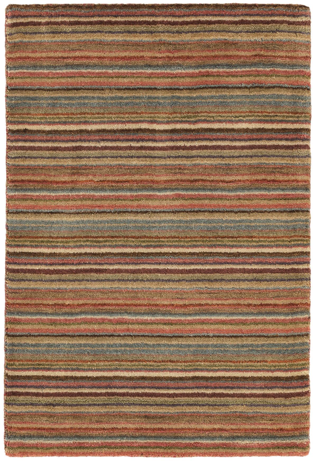 Brindle Stripe Spice Loom Knotted Rug