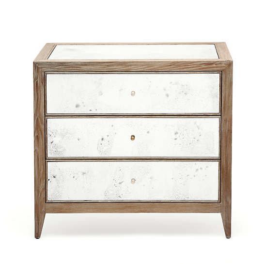 Brownwashed Mia Double Nightstand