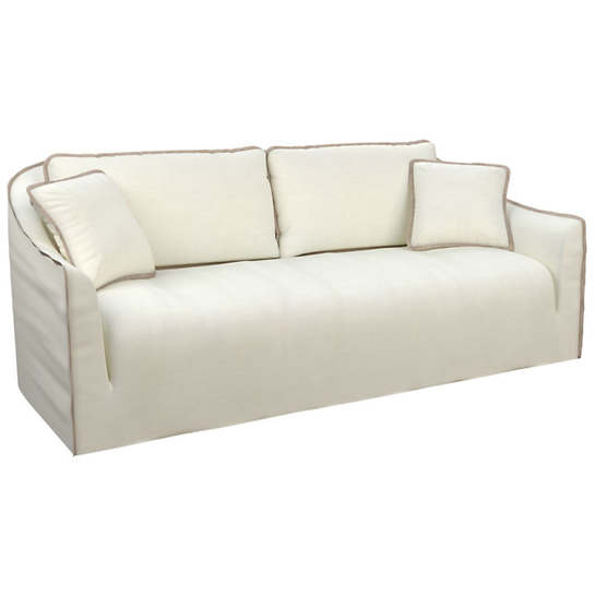Bruna Ivory Slipcovered Sofa
