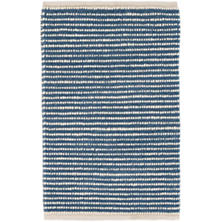 Brushed Stripe Denim Woven Wool Rug