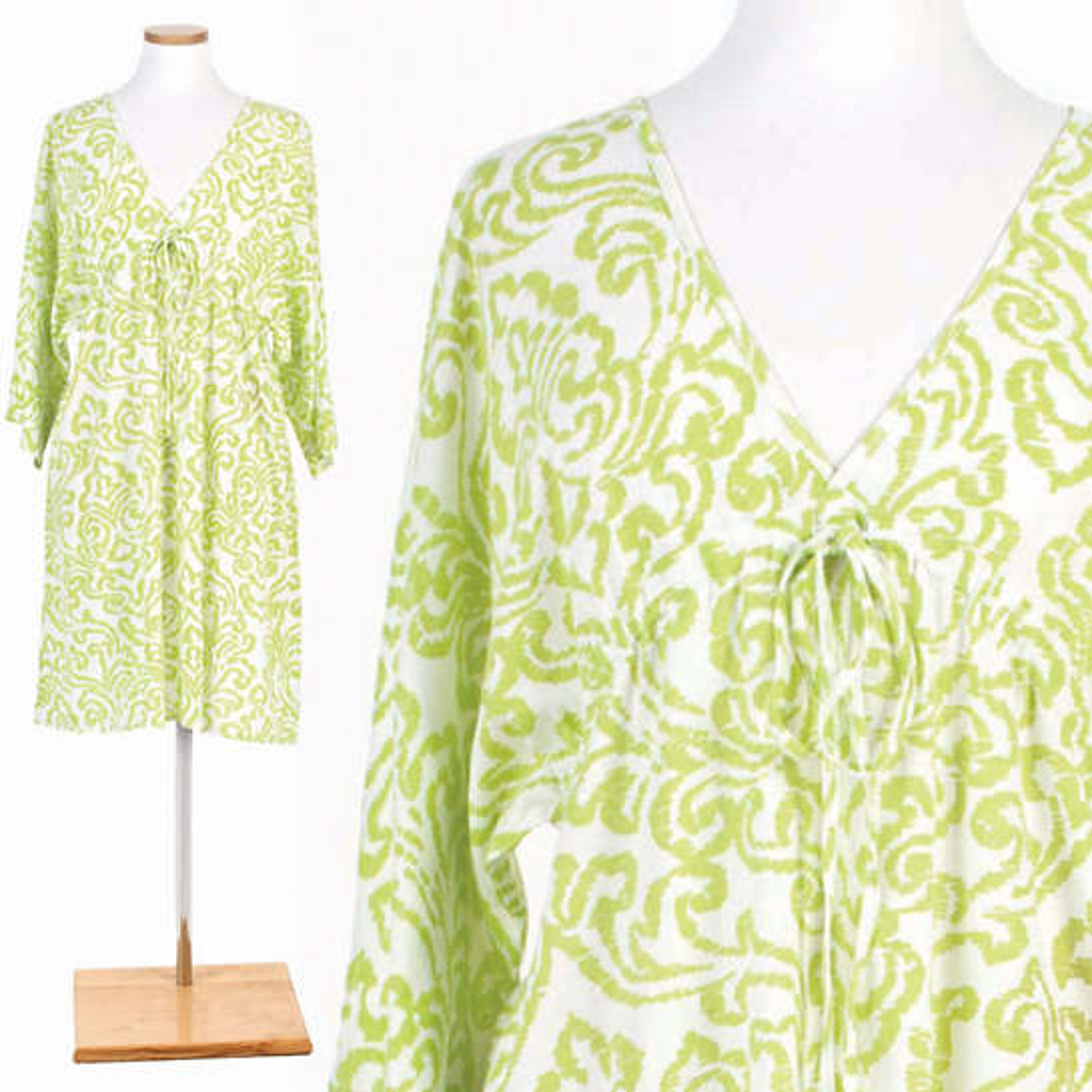 Brushstroke Damask Wild Lime Nightdress