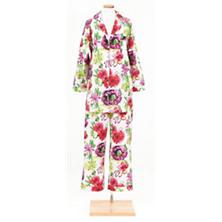 Brushstroke Floral Shirt Tail Pajama