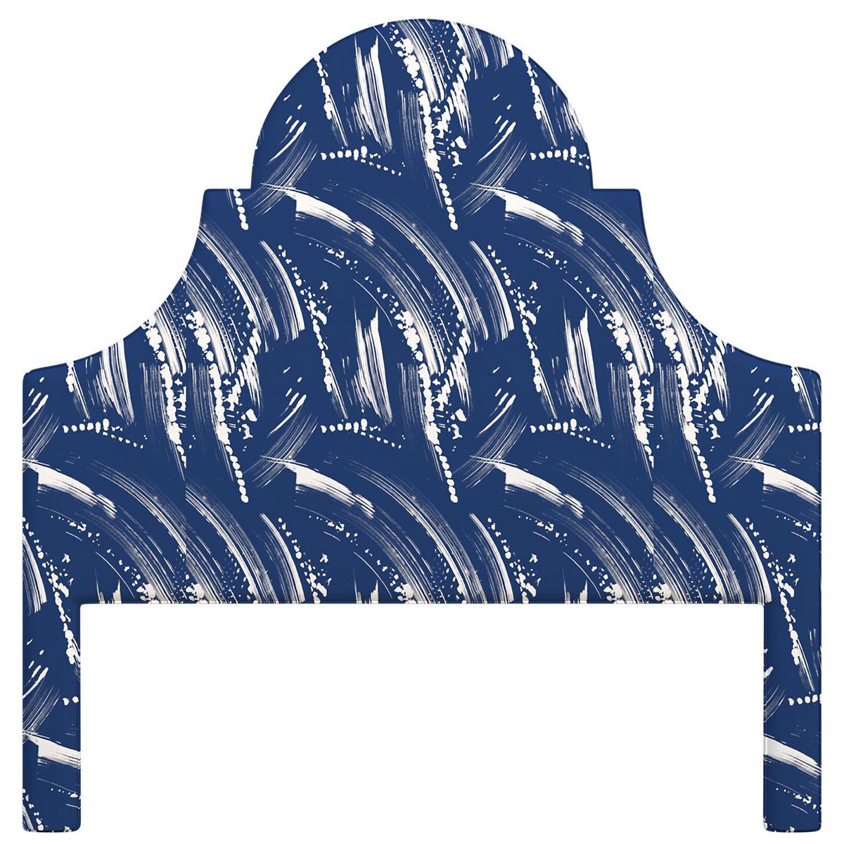 Brushstroke Indigo/White Montaigne Headboard