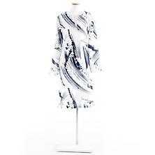 Brushstroke White/Indigo Tunic