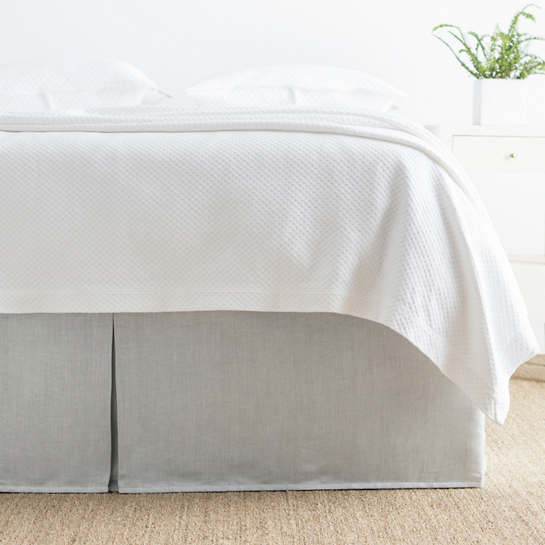 Brussels Grey Bed Skirt