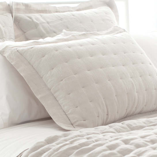 Brussels Natural Quilted Sham