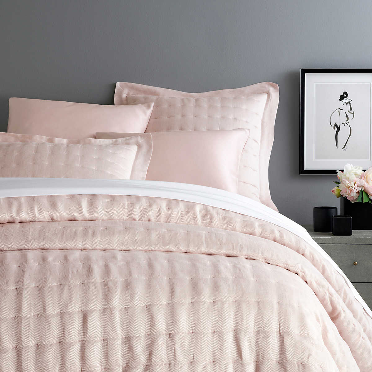 """4ce718ea6b4 As Seen in Architectural Digest s """"Things We re Coveting"""" Brussels Slipper Pink  Quilt"""