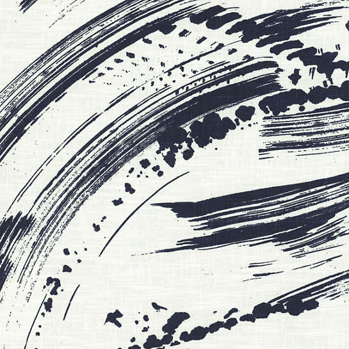 Brushstroke White/Indigo Fabric