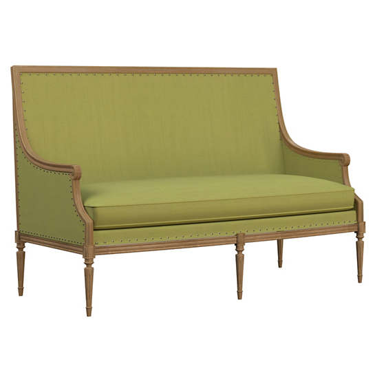 Estate Linen Green Bryson Settee