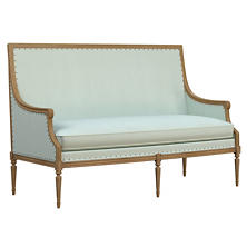 Estate Linen Powder Blue Bryson Settee