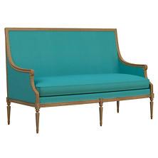 Estate Linen Turquoise Bryson Settee