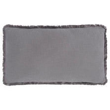 Bubble Grey Matelassé Decorative Pillow