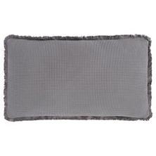 Bubble Grey Matelassé Decorative Pillow