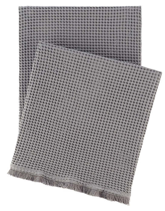 Bubble Grey Matelassé Throw