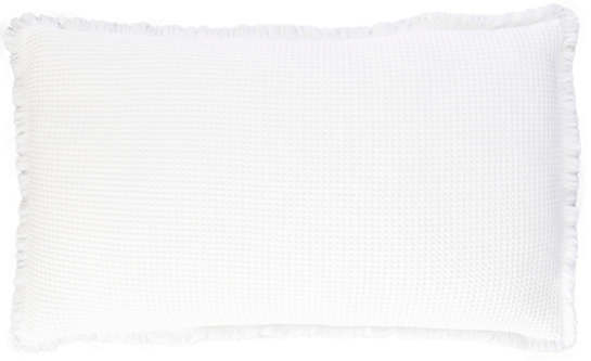 Bubble White Matelassé Decorative Pillow