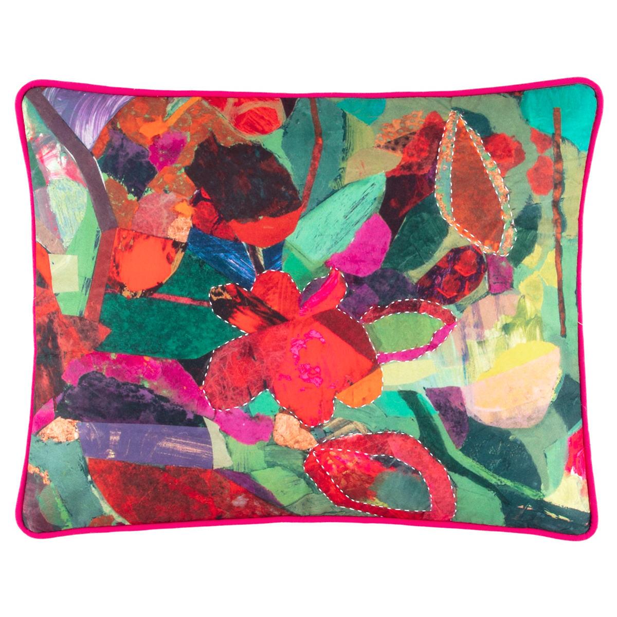 Bunny Flower Felt Embroidered Decorative Pillow