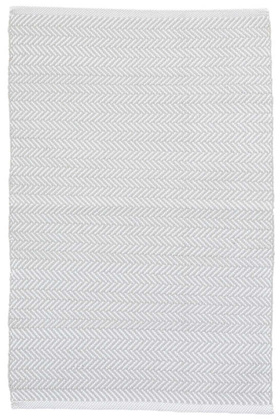 Herringbone Pearl Grey/White Indoor/Outdoor Rug