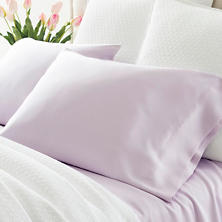 Silken Solid Pale Lilac Pillowcases (Pair)