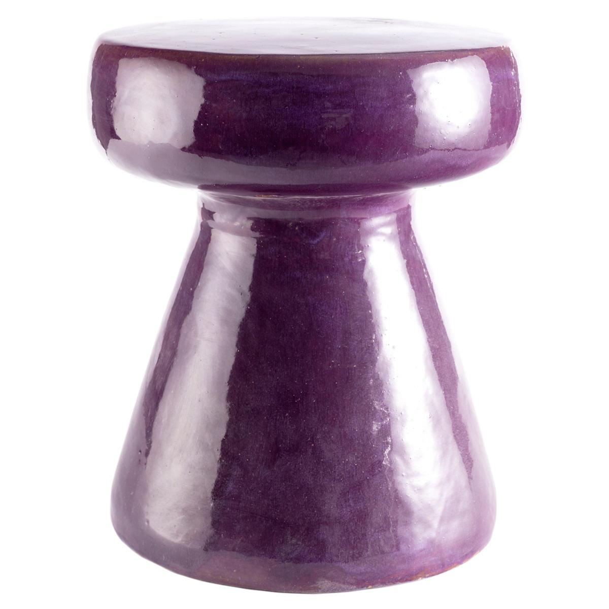 Carmen Aubergine Ceramic Stool