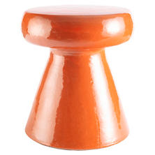Carmen Tangerine Ceramic Stool