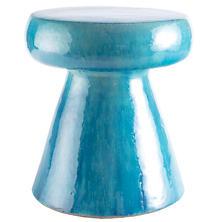 Carmen Turquoise Ceramic Stool