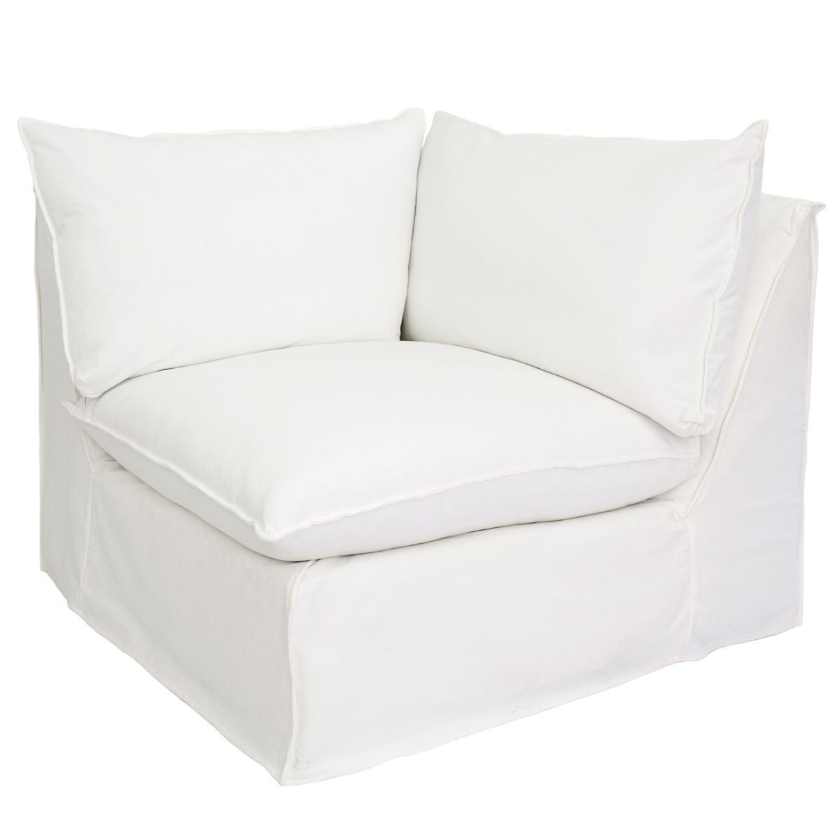 White Hollingsworth Slipcovered Corner Chair