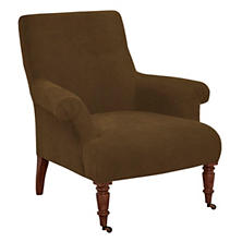 Velvesuede Camel Barrington Chair