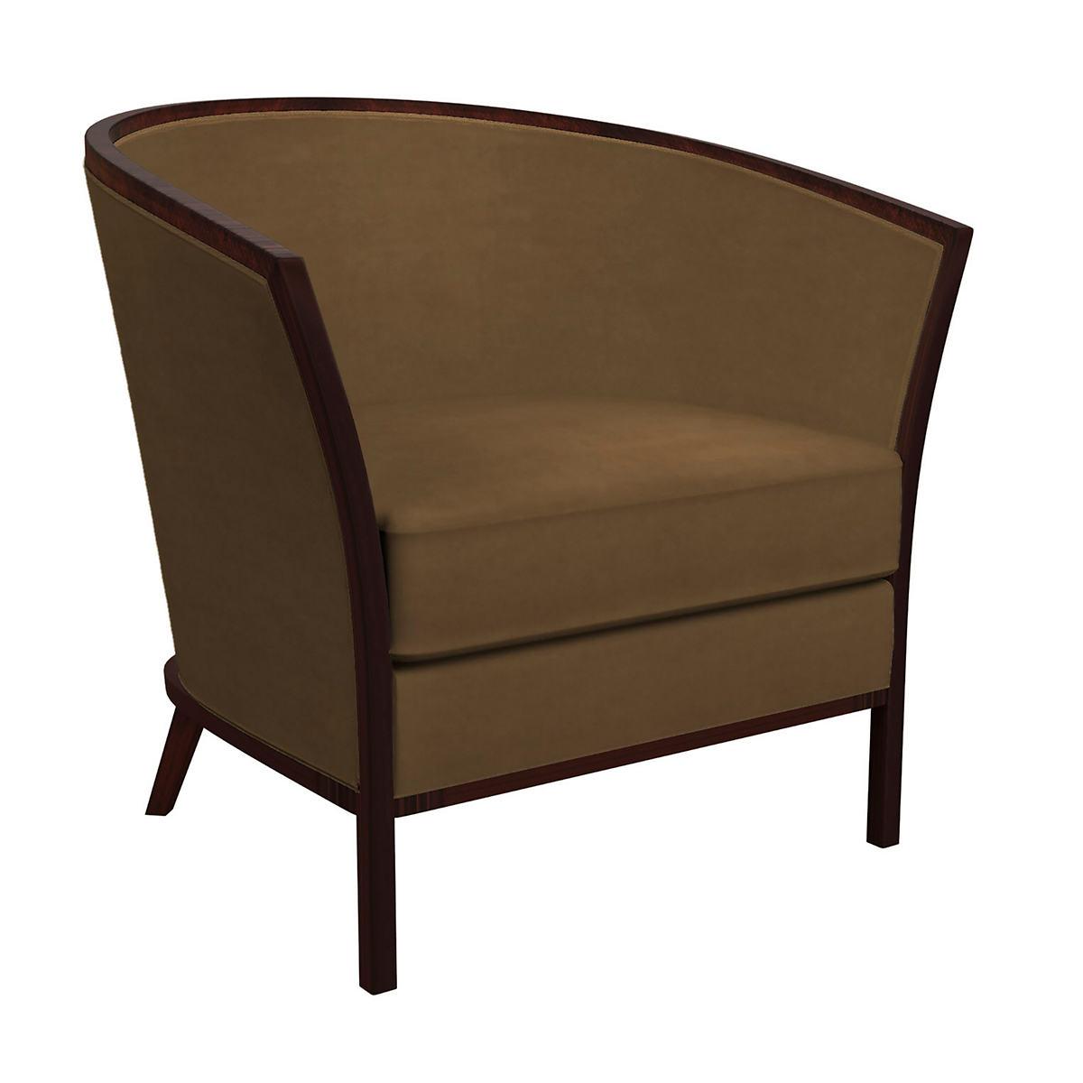 Velvesuede Camel Bijou Chair