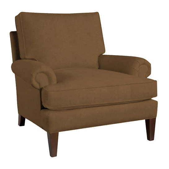 Velvesuede Camel Easton Chair