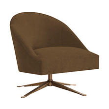 Velvesuede Camel Embrace Chair