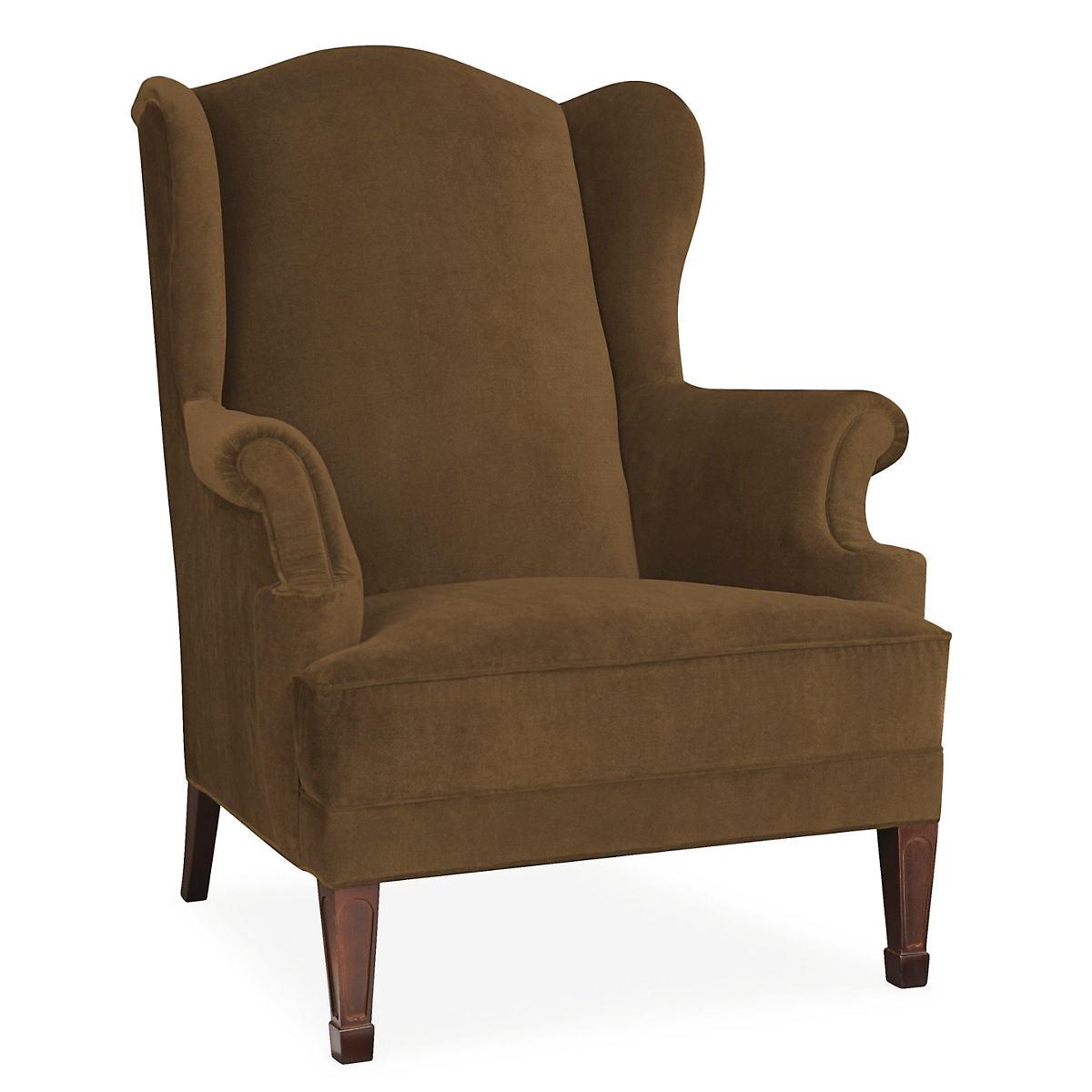 Velvesuede Camel Lismore Chair